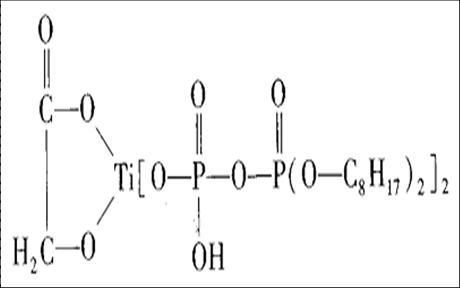 螯he型钛酸酯结gou式